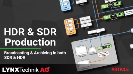 Article: HDR and SDR paralell production for broadcasting and Archiving