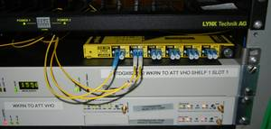 yellobrik fiber receivers and multiplexers at WKRN-TV Braodcast Facility