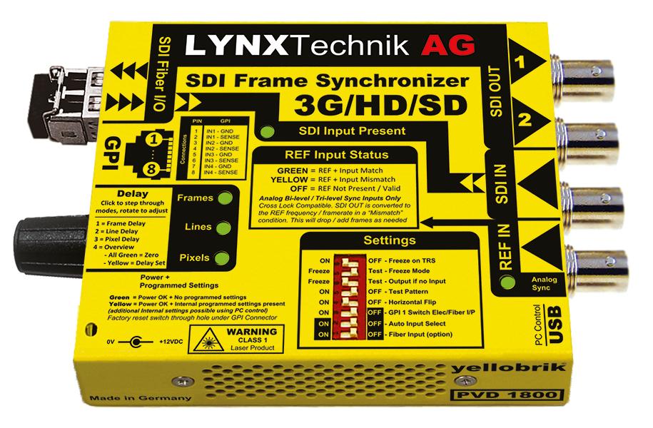 PVD 1800: 3Gbit SDI Frame Synchronizer with Up/Down/Cross Converter ...